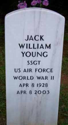 YOUNG  (VETERAN WWII), JACK WILLIAM - Scott County, Arkansas   JACK WILLIAM YOUNG  (VETERAN WWII) - Arkansas Gravestone Photos