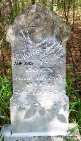 YOUNG, LANORA - Scott County, Arkansas   LANORA YOUNG - Arkansas Gravestone Photos