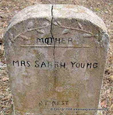 YOUNG, SARAH, MRS - Scott County, Arkansas | SARAH, MRS YOUNG - Arkansas Gravestone Photos