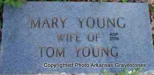 YOUNG, MARY - Scott County, Arkansas | MARY YOUNG - Arkansas Gravestone Photos