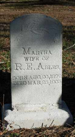 ABLES, MARTHA - Searcy County, Arkansas | MARTHA ABLES - Arkansas Gravestone Photos