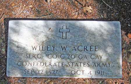 ACREE (VETERAN  CSA), WILEY W - Searcy County, Arkansas   WILEY W ACREE (VETERAN  CSA) - Arkansas Gravestone Photos