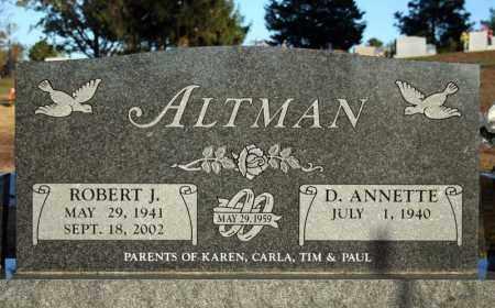 ALTMAN, ROBERT J. - Searcy County, Arkansas | ROBERT J. ALTMAN - Arkansas Gravestone Photos