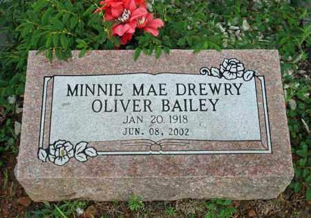 DREWRY BAILEY, MINNIE MAE - Searcy County, Arkansas | MINNIE MAE DREWRY BAILEY - Arkansas Gravestone Photos