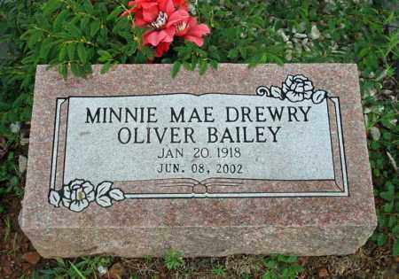 DREWRY OLIVER, MINNIE MAE - Searcy County, Arkansas | MINNIE MAE DREWRY OLIVER - Arkansas Gravestone Photos