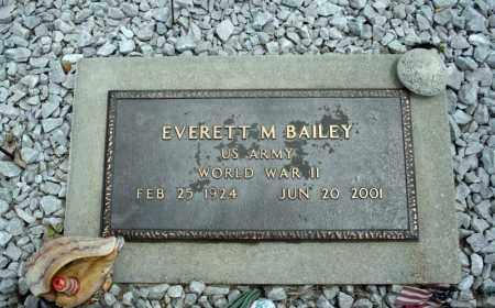 BAILEY (VETERAN WWII), EVERETT M - Searcy County, Arkansas | EVERETT M BAILEY (VETERAN WWII) - Arkansas Gravestone Photos