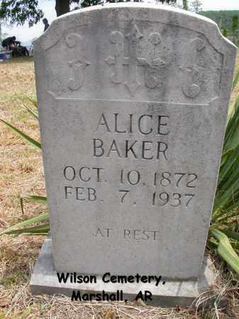 BAKER, ALICE - Searcy County, Arkansas   ALICE BAKER - Arkansas Gravestone Photos