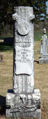 BAKER, GRANT - Searcy County, Arkansas | GRANT BAKER - Arkansas Gravestone Photos