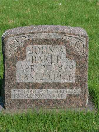 BAKER, JOHN A - Searcy County, Arkansas   JOHN A BAKER - Arkansas Gravestone Photos