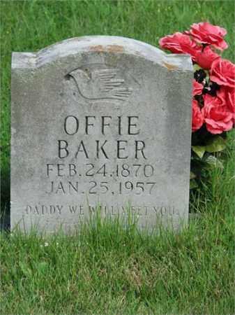 BAKER, OFFIE - Searcy County, Arkansas   OFFIE BAKER - Arkansas Gravestone Photos