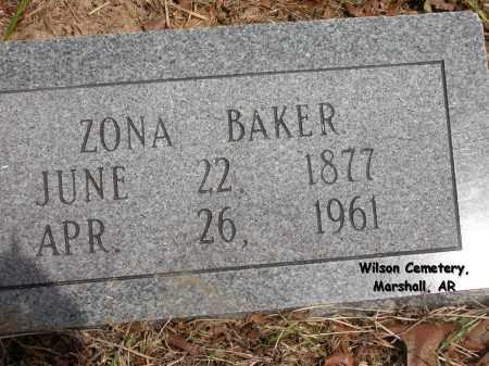 BAKER, ZONA - Searcy County, Arkansas   ZONA BAKER - Arkansas Gravestone Photos