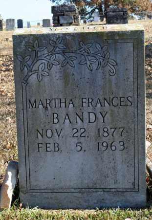 BANDY, MARTHA FRANCES - Searcy County, Arkansas | MARTHA FRANCES BANDY - Arkansas Gravestone Photos