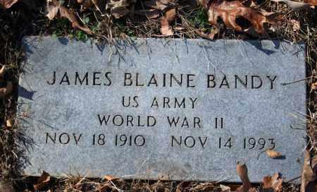 BANDY (VETERAN WWII), JAMES BLAINE - Searcy County, Arkansas | JAMES BLAINE BANDY (VETERAN WWII) - Arkansas Gravestone Photos