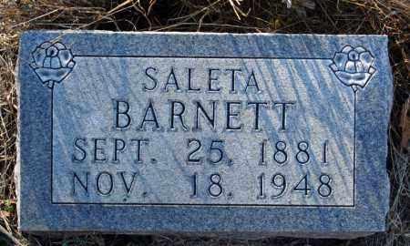 HENDRIX BARNETT, SALETA - Searcy County, Arkansas   SALETA HENDRIX BARNETT - Arkansas Gravestone Photos