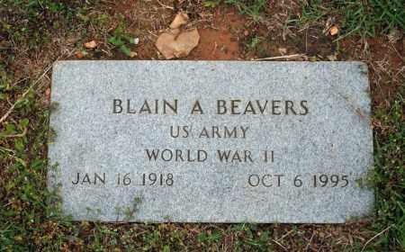BEAVERS (VETERAN WWII), BLAIN A - Searcy County, Arkansas | BLAIN A BEAVERS (VETERAN WWII) - Arkansas Gravestone Photos
