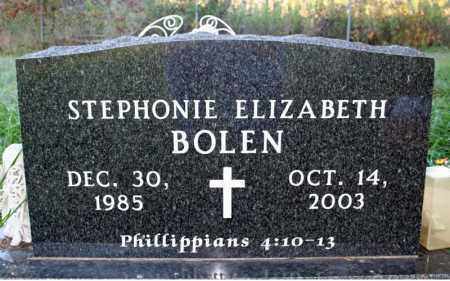 BOLEN, STEPHONIE ELIZABETH - Searcy County, Arkansas | STEPHONIE ELIZABETH BOLEN - Arkansas Gravestone Photos