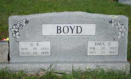 BOYD, G.K. - Searcy County, Arkansas   G.K. BOYD - Arkansas Gravestone Photos