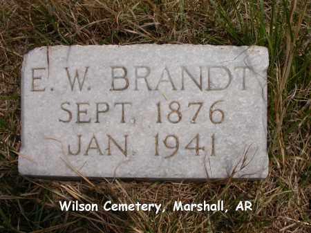 BRANDT, E.W. - Searcy County, Arkansas | E.W. BRANDT - Arkansas Gravestone Photos