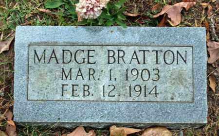 BRATTON, MADGE - Searcy County, Arkansas | MADGE BRATTON - Arkansas Gravestone Photos
