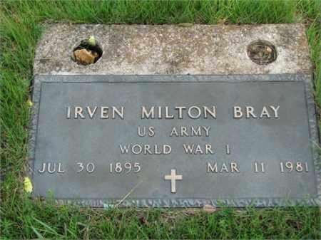 BRAY (VETERAN WWI), IRVEN MILTON - Searcy County, Arkansas | IRVEN MILTON BRAY (VETERAN WWI) - Arkansas Gravestone Photos