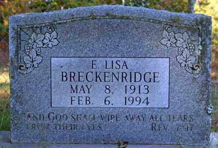 BRECKENRIDGE, E. LISA - Searcy County, Arkansas   E. LISA BRECKENRIDGE - Arkansas Gravestone Photos