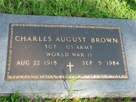 BROWN (VETERAN WWII), CHARLES AUGUST - Searcy County, Arkansas | CHARLES AUGUST BROWN (VETERAN WWII) - Arkansas Gravestone Photos