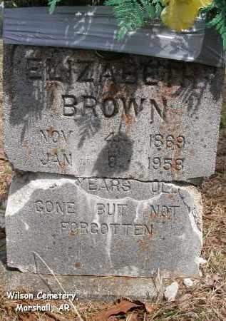 BROWN, ELIZABETH - Searcy County, Arkansas | ELIZABETH BROWN - Arkansas Gravestone Photos