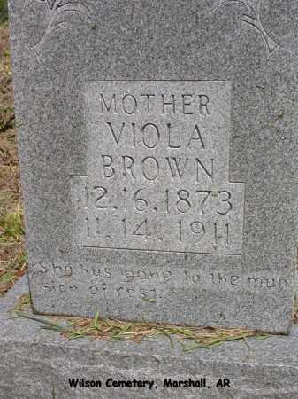 BROWN, VIOLA - Searcy County, Arkansas | VIOLA BROWN - Arkansas Gravestone Photos