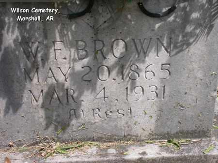 BROWN, W.F. - Searcy County, Arkansas | W.F. BROWN - Arkansas Gravestone Photos