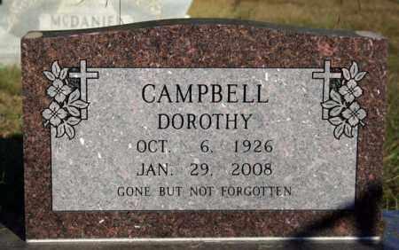 CAMPBELL, DOROTHY - Searcy County, Arkansas | DOROTHY CAMPBELL - Arkansas Gravestone Photos