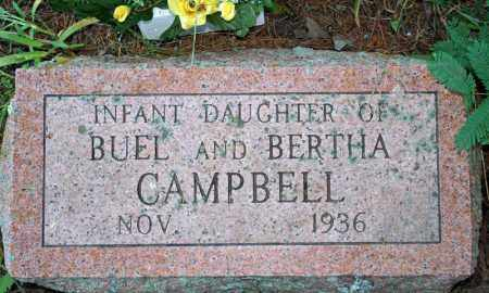 CAMPBELL, INFANT DAUGHTER - Searcy County, Arkansas | INFANT DAUGHTER CAMPBELL - Arkansas Gravestone Photos