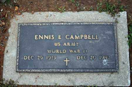 CAMPBELL (VETERAN WWII), ENNIS E - Searcy County, Arkansas | ENNIS E CAMPBELL (VETERAN WWII) - Arkansas Gravestone Photos