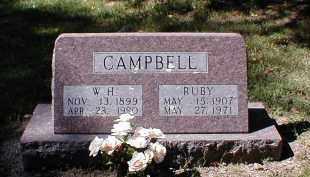 CAMPBELL, W. H. - Searcy County, Arkansas   W. H. CAMPBELL - Arkansas Gravestone Photos