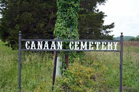 *CANAAN CEMETERY HIGHWAY SIGN,  - Searcy County, Arkansas    *CANAAN CEMETERY HIGHWAY SIGN - Arkansas Gravestone Photos