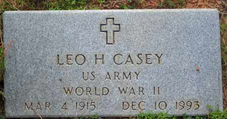 CASEY  (VETERAN WWII), LEO H. - Searcy County, Arkansas | LEO H. CASEY  (VETERAN WWII) - Arkansas Gravestone Photos