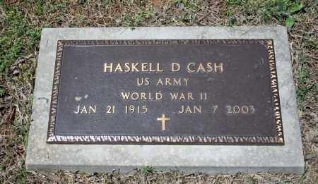 CASH (VETERAN WWII), HASKEL D - Searcy County, Arkansas | HASKEL D CASH (VETERAN WWII) - Arkansas Gravestone Photos