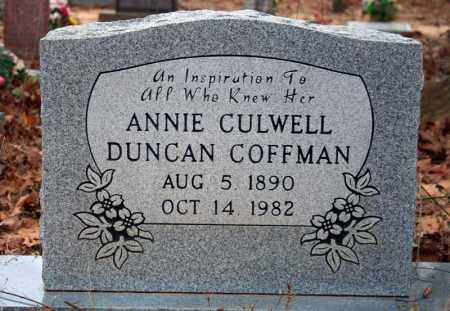 COFFMAN, ANNIE CULWELL DUNCAN - Searcy County, Arkansas | ANNIE CULWELL DUNCAN COFFMAN - Arkansas Gravestone Photos