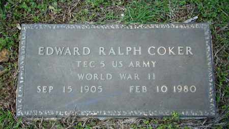COKER (VETERAN WWII), EDWARD RALPH - Searcy County, Arkansas   EDWARD RALPH COKER (VETERAN WWII) - Arkansas Gravestone Photos
