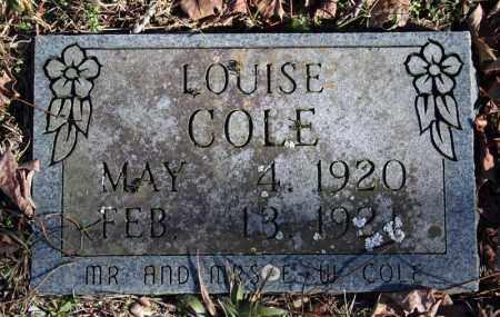 COLE, LOUISE - Searcy County, Arkansas | LOUISE COLE - Arkansas Gravestone Photos