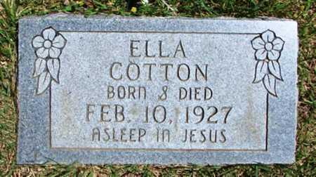 COTTON, ELLA - Searcy County, Arkansas   ELLA COTTON - Arkansas Gravestone Photos