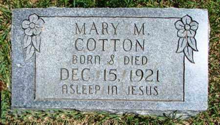 COTTON, MARY M. - Searcy County, Arkansas | MARY M. COTTON - Arkansas Gravestone Photos