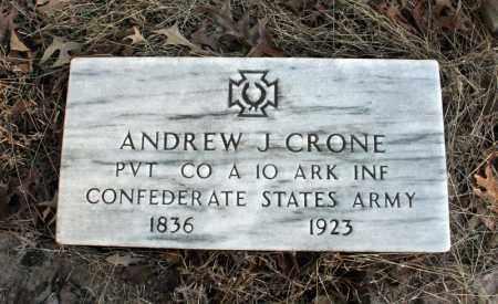 CRONE (VETERAN CSA), ANDREW  J - Searcy County, Arkansas | ANDREW  J CRONE (VETERAN CSA) - Arkansas Gravestone Photos