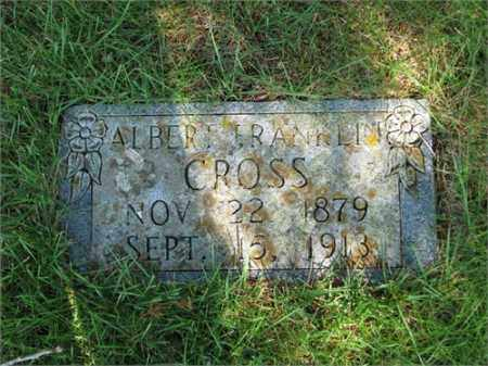 CROSS, ALBERT FRANKLIN - Searcy County, Arkansas | ALBERT FRANKLIN CROSS - Arkansas Gravestone Photos