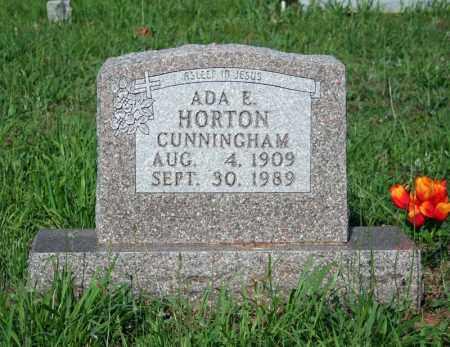 HORTON CUNNINGHAM, ADA E. - Searcy County, Arkansas   ADA E. HORTON CUNNINGHAM - Arkansas Gravestone Photos