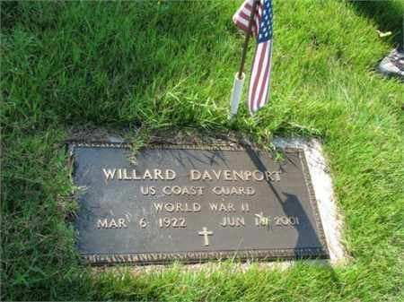 DAVENPORT (VETERAN WWII), WILLARD - Searcy County, Arkansas   WILLARD DAVENPORT (VETERAN WWII) - Arkansas Gravestone Photos
