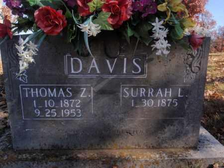 PREWITT DAVIS, SURRAH L - Searcy County, Arkansas   SURRAH L PREWITT DAVIS - Arkansas Gravestone Photos