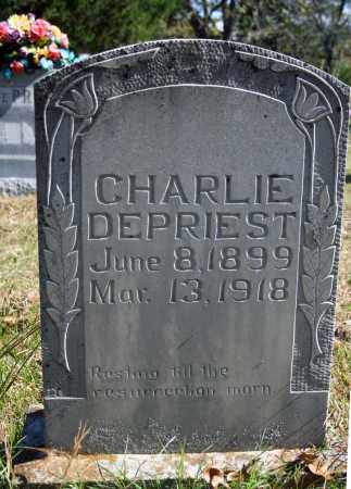 DEPRIEST, CHARLIE - Searcy County, Arkansas | CHARLIE DEPRIEST - Arkansas Gravestone Photos