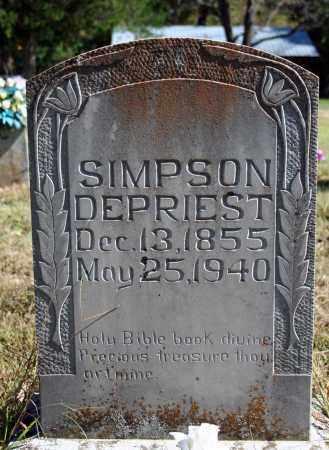DEPRIEST, SIMPSON - Searcy County, Arkansas | SIMPSON DEPRIEST - Arkansas Gravestone Photos