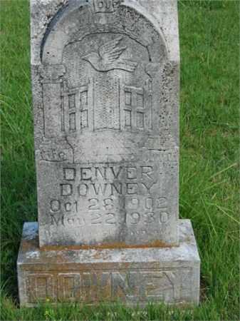 DOWNEY, DENVER - Searcy County, Arkansas | DENVER DOWNEY - Arkansas Gravestone Photos