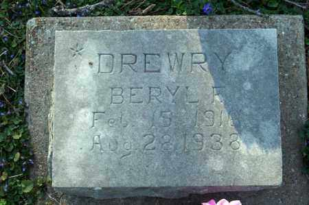 DREWRY, BERYL F. - Searcy County, Arkansas | BERYL F. DREWRY - Arkansas Gravestone Photos
